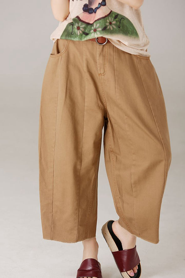 Casual Loose Cotton Harem Pants Women Fashion Trousers K8293