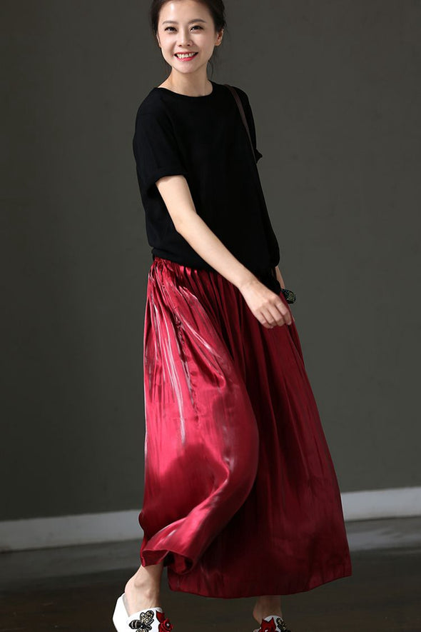 Casual Wide Leg Pants Women Summer Thin Trousers K1201