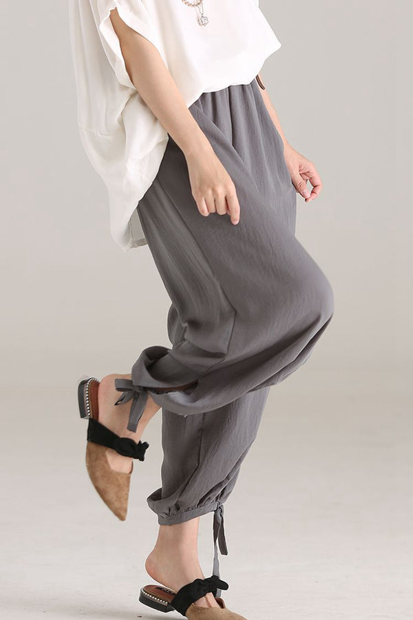 Loose Thin Plus Fours Women Casual Pants K2917