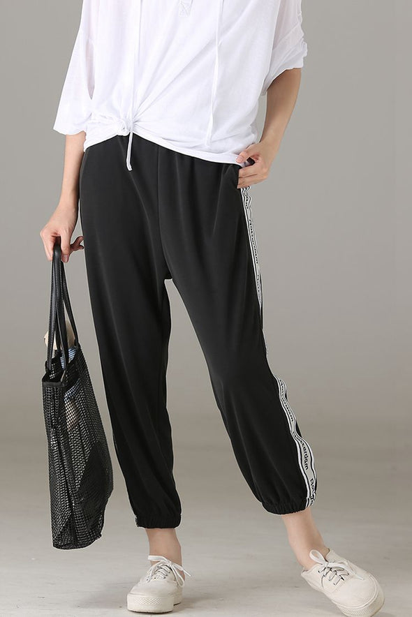 Casual Comfort Cotton Pants Women Loose Trousers K8676