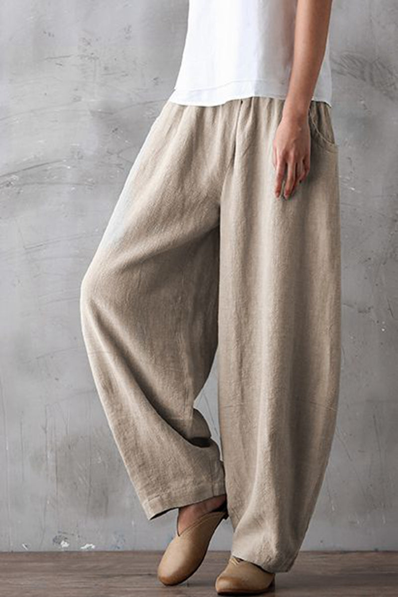 choose original hot-selling discount cheaper Summer Loose Cotton Linen Pants Women Casual Trousers K0461 ...