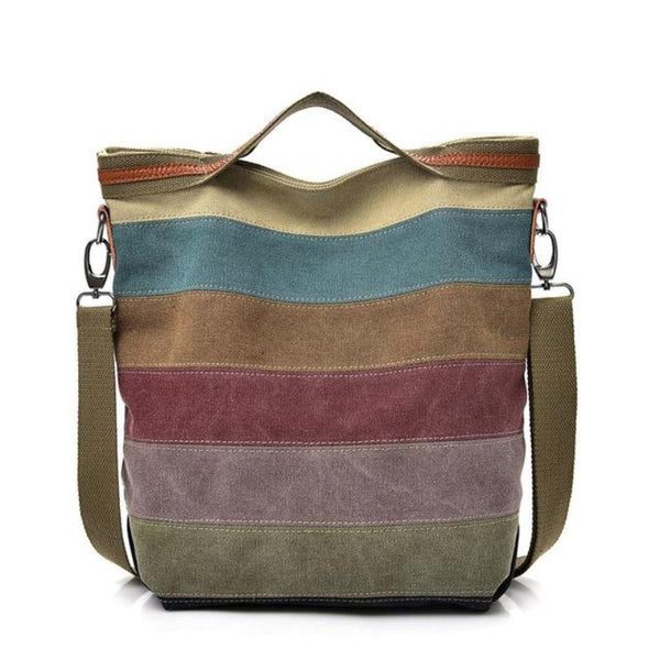 Casual Women Canvas Shoulder Bag Simplicity Female Handbag Soft Medium Size Messenger Bag for Teenagers - FantasyLinen