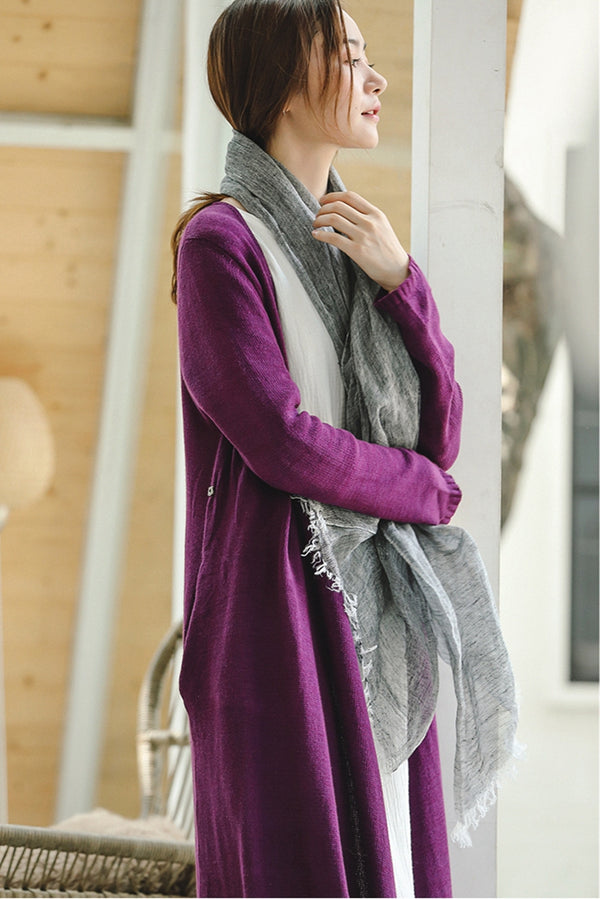 Soft Casual Linen Shawl Women Fashion Scarf W8940