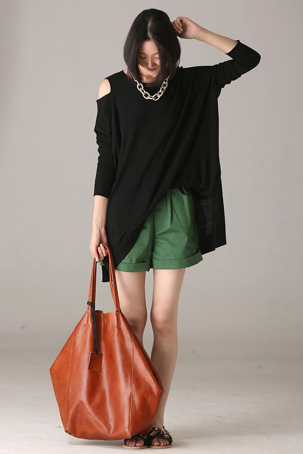 Casual Wool Knitwear Women Blouse For Autumn Z2291