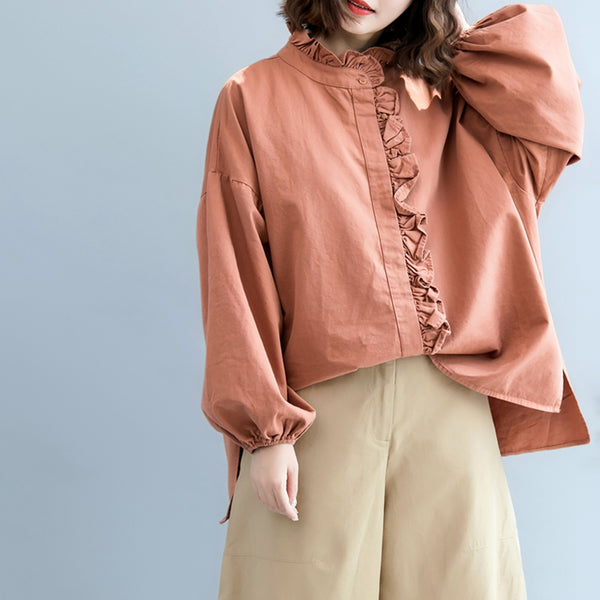 Cute Casual Cotton Shirt Women Fall Tops S7081