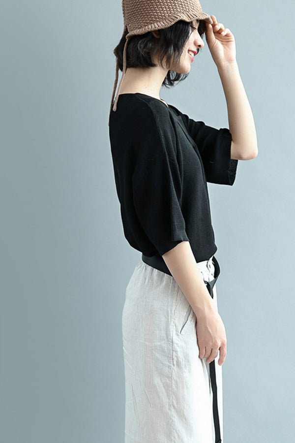 Summer Casual Loose Short T Shirt For Women S2346