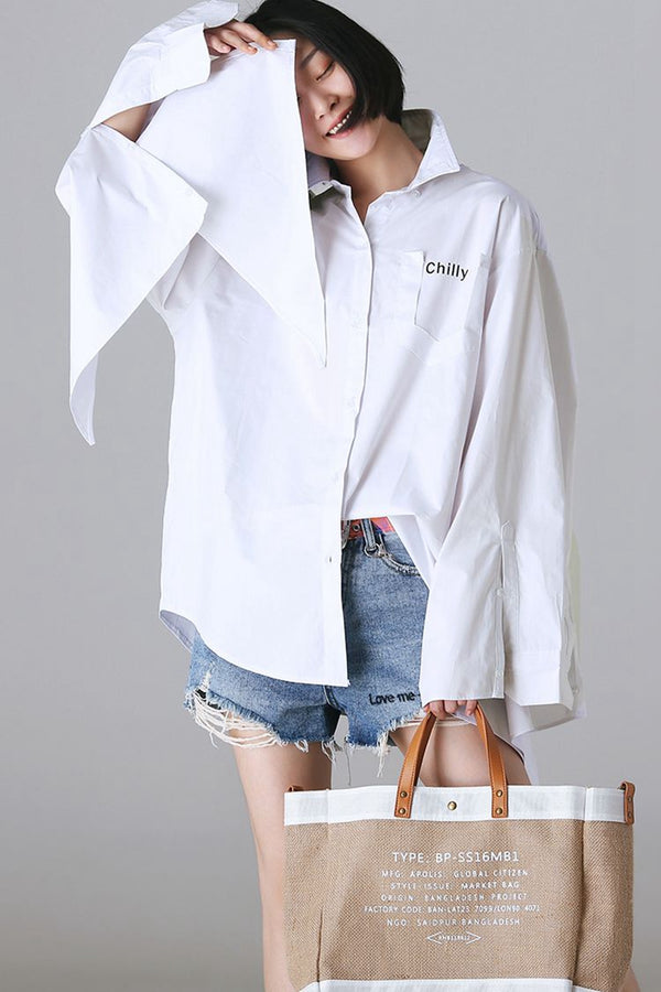 Cute Autumn Cotton Shirt Women Casual Tops C85