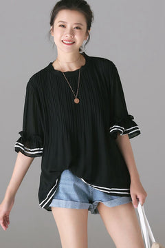 Fashion Loose Chiffon T Shirt Women Cute Tops C8180