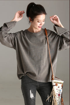 Cute Casual Embroidery Cotton Shirt Women Fall Tops T2211