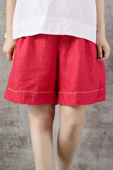 Loose Linen Shorts Hot Pants For Women K1451
