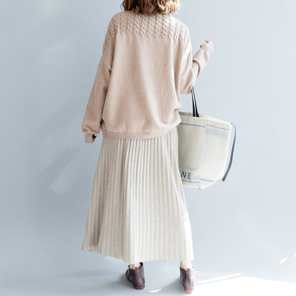 Fall Fashion Button Down Wool Skirt For Women Q2491