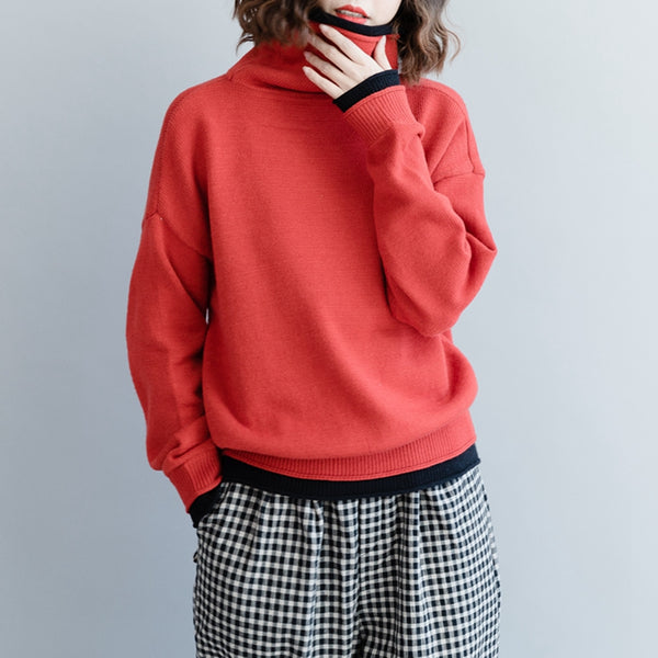 Women Loose Short Sweater Casual Tops For Winter M1215