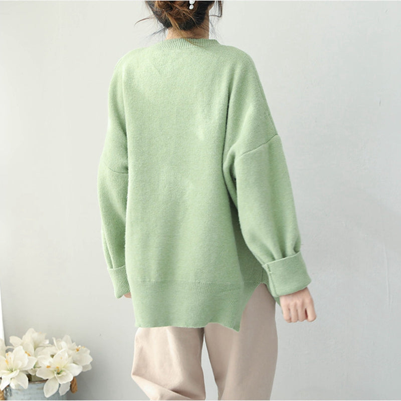 ee7666d2df5d80 Women Loose Cute Candy Color Sweater Casual Winter Tops Q1951 ...