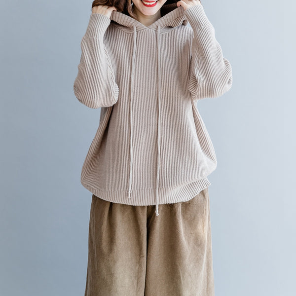 Casual Loose Hoodie Cotton Warm Sweater For Women M2493