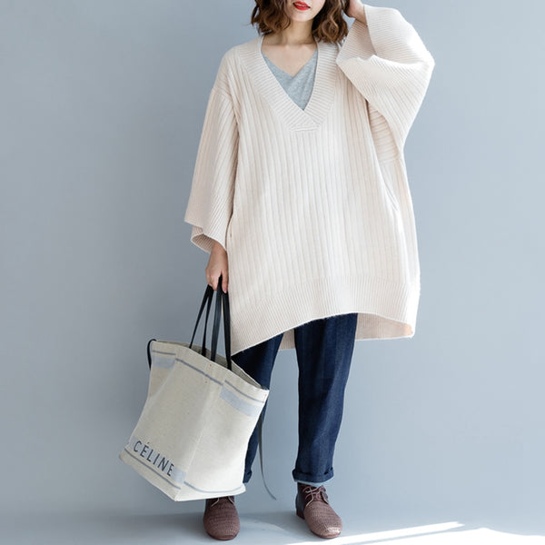 Loose Cotton Long Warm Sweater Women Fall And Winter Clothes M2491