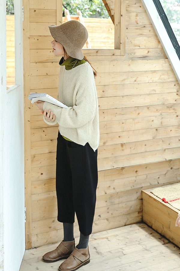Women Cute Casual Sweater Loose Warm Tops Z8903