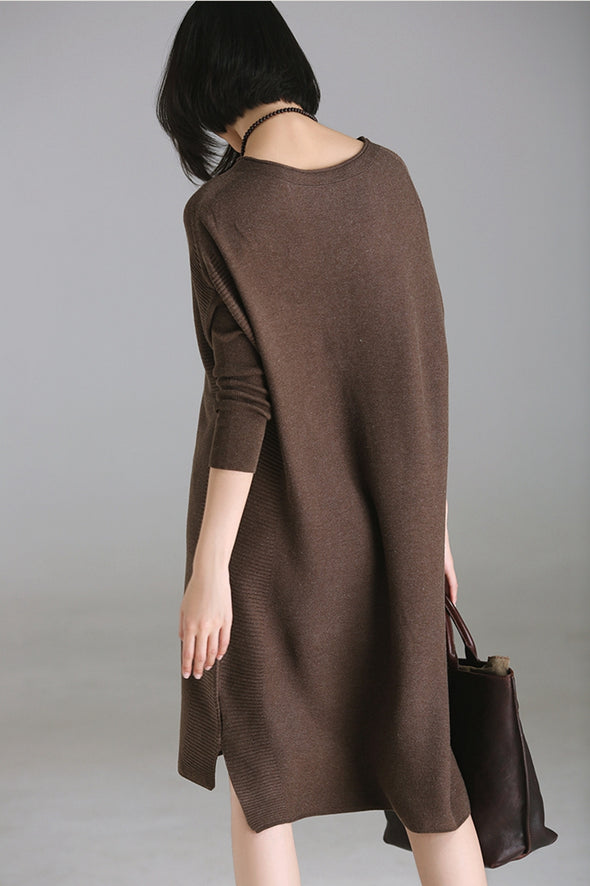 Casual Quilted Long Sweater For Women M8821