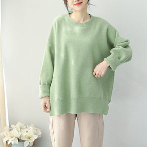 Women Loose Cute Candy Color Sweater Casual Winter Tops Q1951