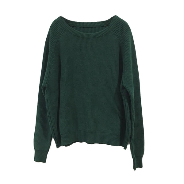 Vintage Cotton Sweater Women Warm Tops Q1613