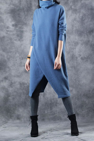 Fashion High Neck Casual Long Sweater For Women M2910
