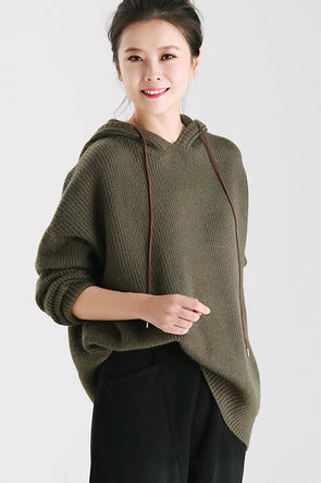 fc2490f802 Women Fashion Hoodie Knitted Sweater For Fall And Winter M3722