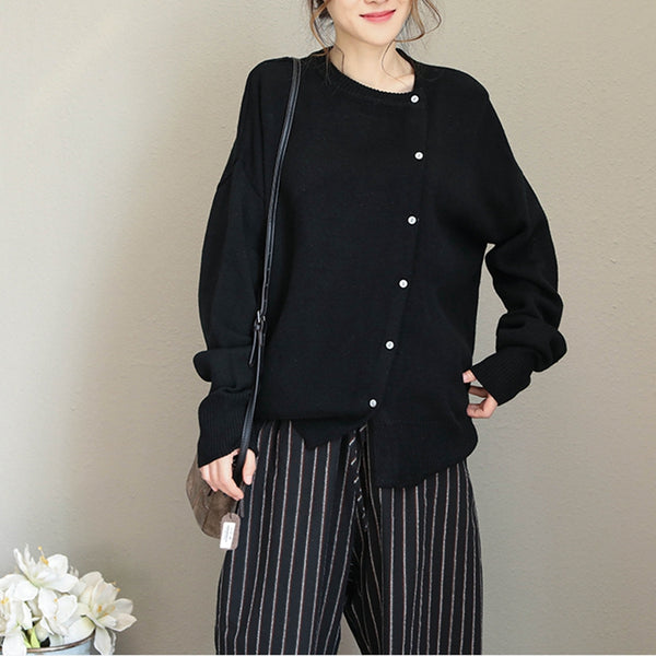 Loose Thicken Sweater Women Casual Warm Tops Q1690