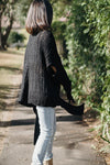 Casual Loose Mohair Black Sweater For Women M3838