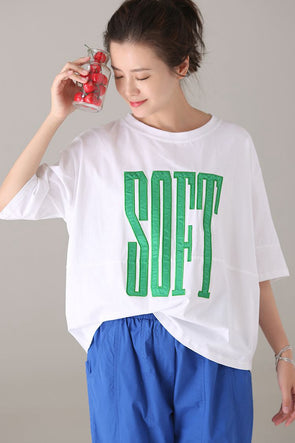 Summer Plus Size Letter T Shirt Women Casual Blouse T2271
