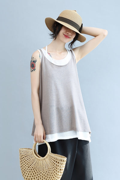 Cool Loose A Line Vest Women Summer Tops S2851