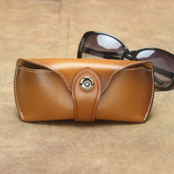 Personalized Groomsman And Bridesmaid Gifts Eyeglass Case Full Grain Leather