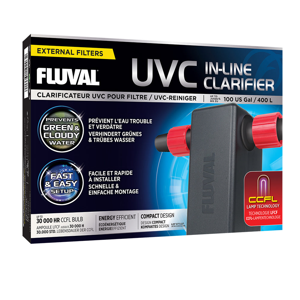 Fluval UVC In-Line Clarifier - up to 100 US Gal