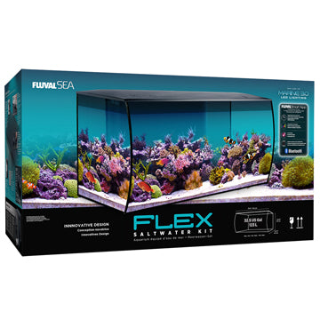 Fluval Sea Flex Saltwater Aquarium Kit (32.5 US gal) - Black