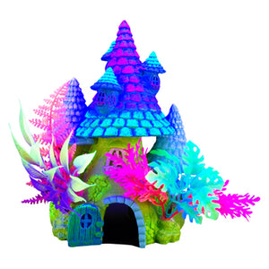 Marina iGlo Ornament - Fantasy House with Plants  (8 in)