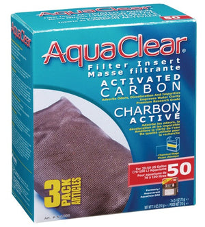 AquaClear Activated Carbon Filter Inserts - 3 Pack
