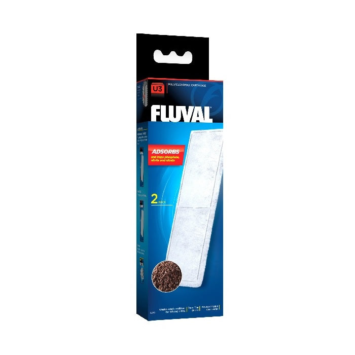 Fluval U3 Poly Carbon Cartridge - 2 Pack-