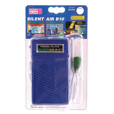 Penn Plax Silent Air Battery Operated Air Pump - B 10