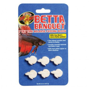 Zoo Med Betta Banquet 7 Day Blocks - 6 pk