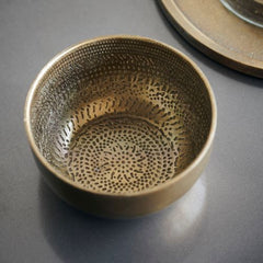 House Doctor Bowl, Chappra, Antique brass finish