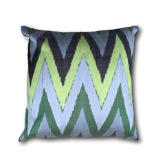 IKAT cushion cover - Green Chevron 50 x 50 cm