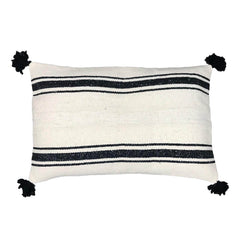 Berber floor cushion cover with pom poms 60 x 90 cm