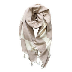 Diamond cotton scarf - Beige