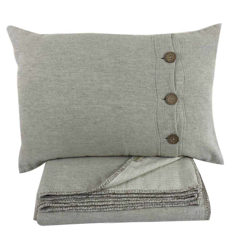 Classic Beige Cushion Cover with Buttons - my little wish