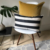 IKAT cushion cover -  Black Stripe - 30 x 50 cm