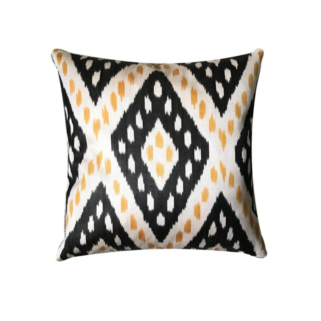 IKAT cushion cover - Black and Yellow - 50 x 50 cm
