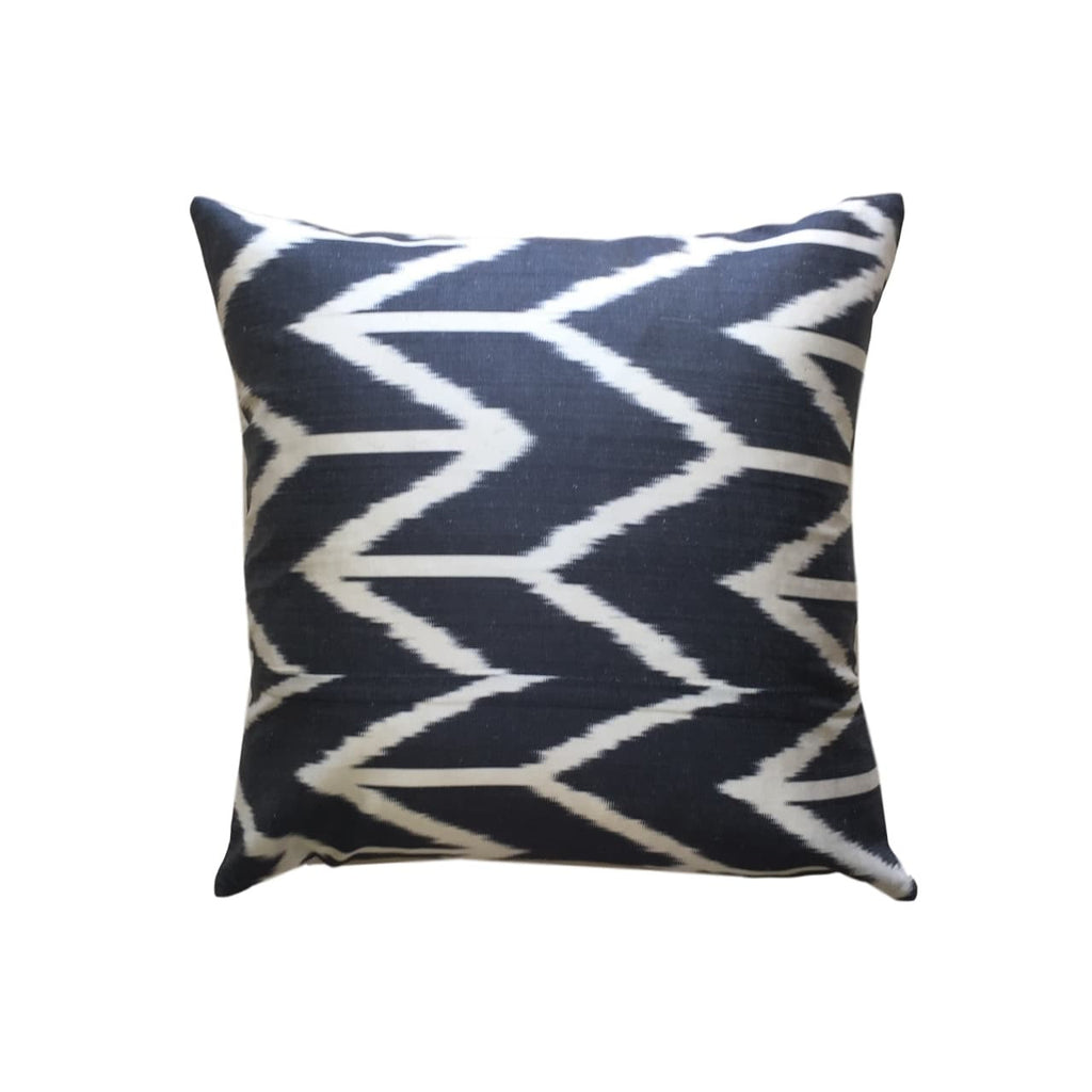 IKAT cushion cover- Geometric Black - 45 x 45 cm