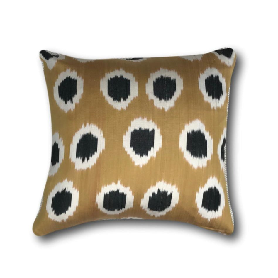 IKAT cushion cover - Black and Gold - 40 x 40 cm