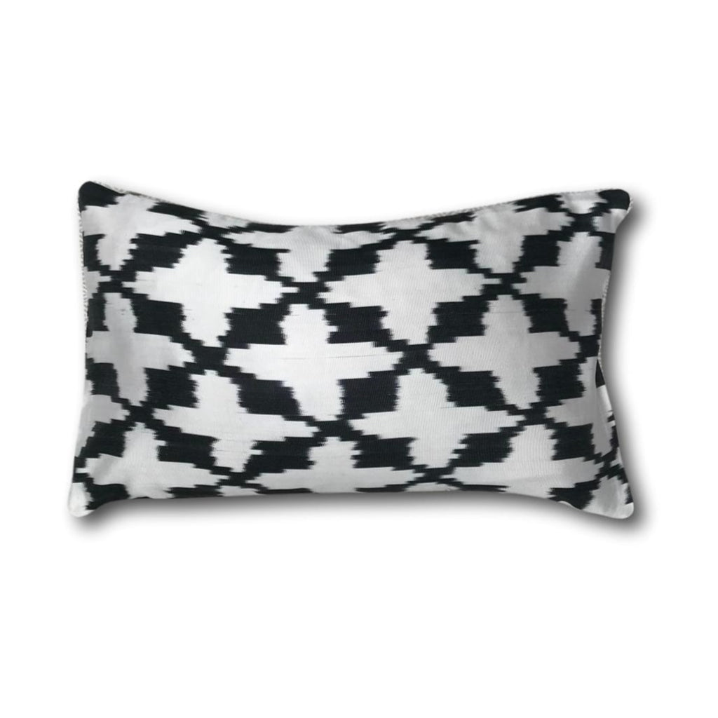 IKAT cushion cover -  Black - 30 x 50 cm