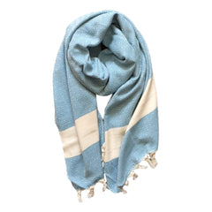Diamond cotton scarf - Blue