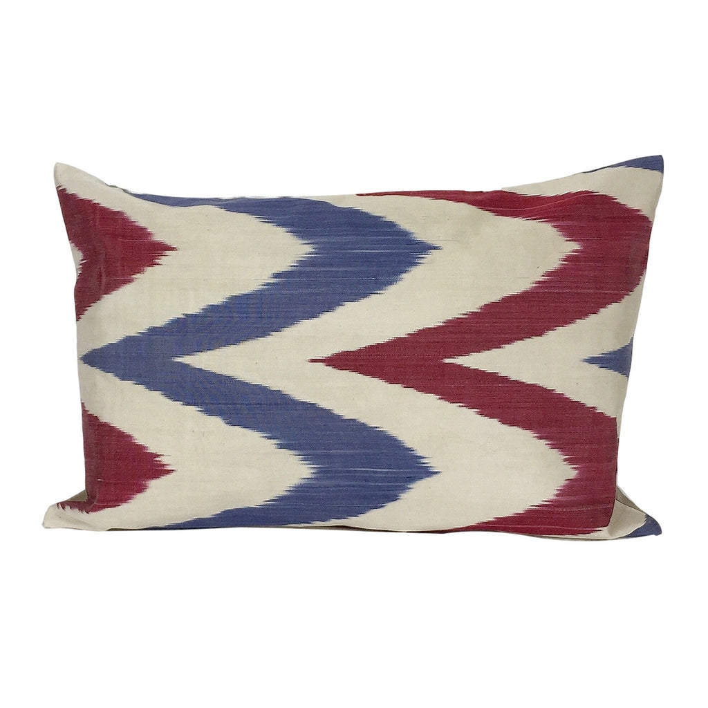 Blue and Pink Waves IKAT Cushion Cover 40 x 60 cm - my little wish