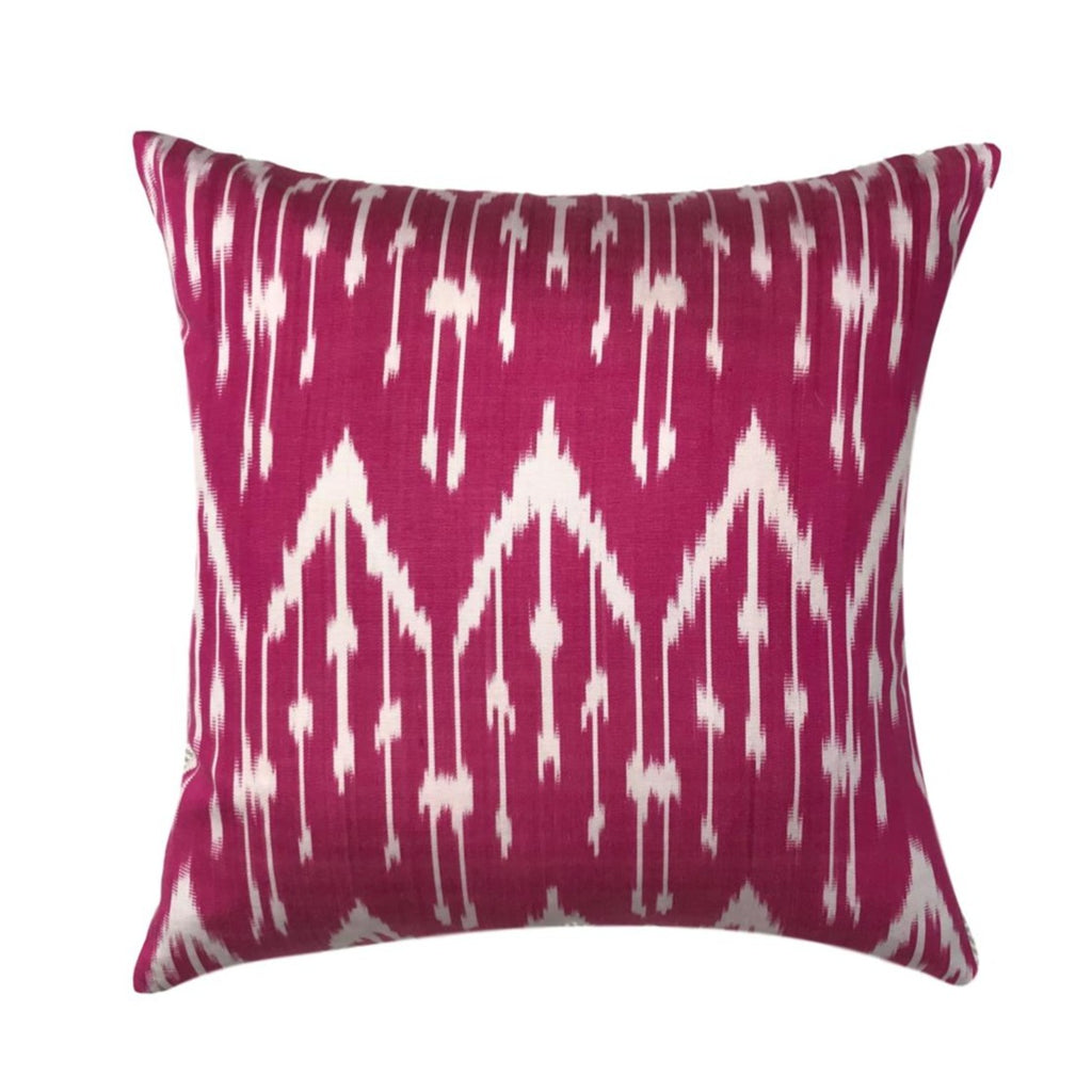 IKAT cushion cover - Bright Pink - 40 x 40 cm